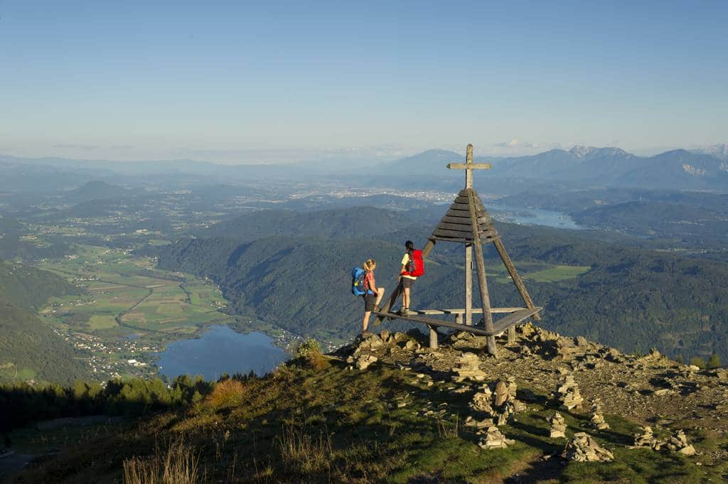 View from the Gerlitzen to the Wörthersee region