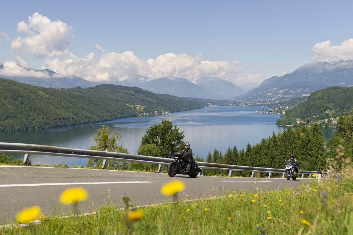 Motorbike tour Wörthersee to Millstatt
