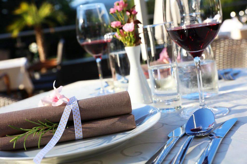 Restaurant Tisch - Hochzeit gedeckt