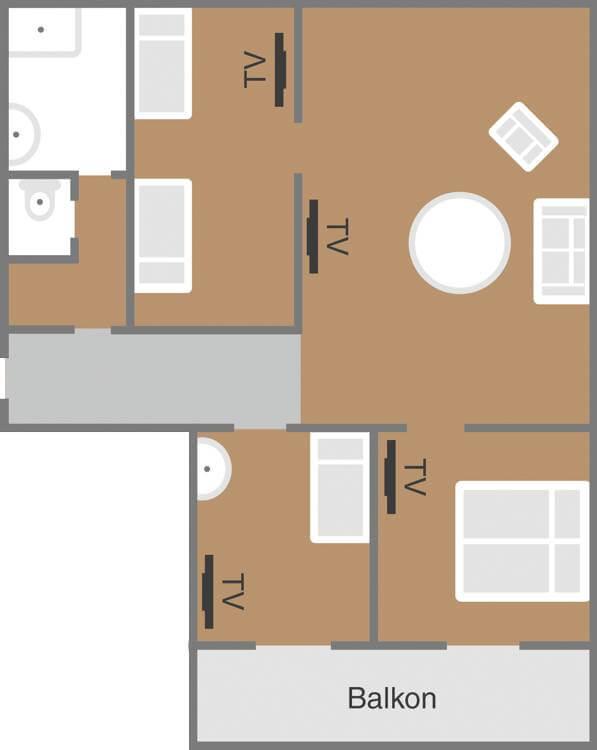 Skizze Familienzimmer Familylust Schoenblick Velden